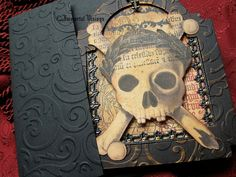Gothic Greeting Card  Ossuary Skull by ImmortalVisions, $8.50
