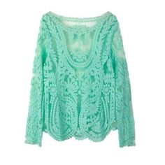 ️NWT Mint Lace Crochet Top New lace crochet top in the prettiest mint color.   Measurements:                                               Bust: Approx. 36 1/2 inches.                                                    Shoulders: 14 1/4 inches.                                                Sleeve Length: 25 inches.                                **Price is firm unless bundled** Tops Blouses