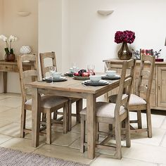 Rafferty - Extending Table & 4 Chairs | Dining Chairs | Dining Room #barkerandstonehouse