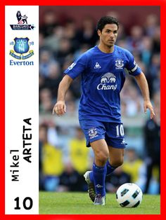Mikel Arteta, played for Everton in season 2010-11