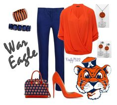 """""""I Love Auburn!!"""" by firefly7522 ❤ liked on Polyvore featuring LogoArt, DKNY, M&Co, Dooney & Bourke, Christian Louboutin, Fornash and Monet"""