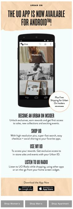 Urban Outfitters : App Email Application, Email Design Inspiration, Talk To Me, Get One, Email Marketing, Edm, Mobile App, Urban Outfitters, Digital