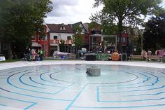 Bellevue Square Park water Labyrinth by HiMY SYeD. I can just imagine dipping the toes into this and what fun it must be for children of all ages.