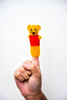 Finger Puppets / Winnie the Pooh. Hand knitted in Peru. Great to keep children entertained. Only £0.80 each: www.raices.co.uk