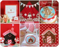 Gingerbread party-so cute for the holidays. Love the colors!