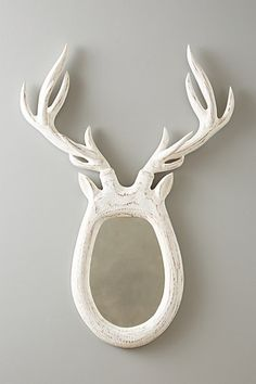 Stag Antlers Mirror - #anthrofave #anthropologie #home #house #decor