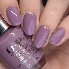 Nails / Nägel OPI Iceland Fall/Winter 2017 Collection - One Heckla of a Color! One Color Nails, Opi Nail Colors, Purple Toe Nails, Purple Nail Polish, Nails Polish, Opi Nails, Cute Nails, Pretty Nails, Sally Hansen Nails