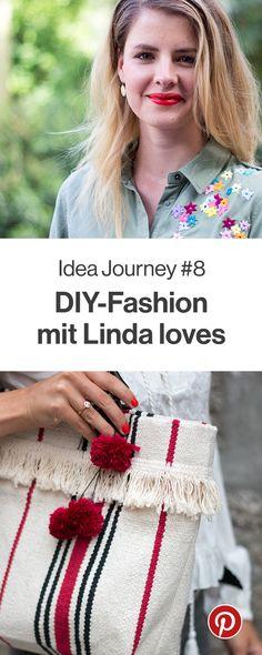 """Patches, Stickereien oder Spitzenborten – Linda loves zeigt euch im August, wie sie ihre Kleidung in wunderbare Einzelstücke verwandelt. Seid beim Thema """"DIY-Fashion"""" dabei und probiert doch auch mal einen Pin aus!"""