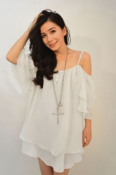 Loose-Fitting Off-The-Shoulder Spaghetti Strap Women's Chiffon Blouse In White,One Size(fit Size Xs To M) | Twinkledeals.com