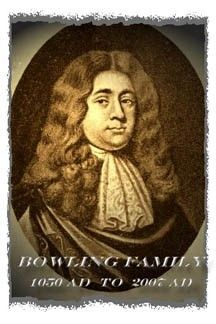 Col. Robert Thomas Bolling 1645-1709.   Immigrated Oct. 2, 1660