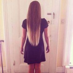 long hair, v cut