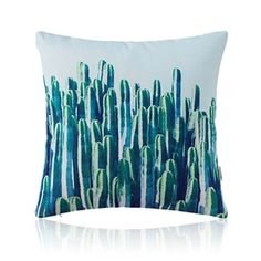 American Pastoral Simple Cotton Linen Plants Watercolor Printing Sofa Pillow Hylocereus Pattern Cushions