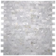 Mother of Pearl Shell Mosaic Tile for Kitchen Backsplash / Shower Wall Tile, x Groutless Subway Premium quality mother of pearl mosaic tiles, Mesh backCome in pack of s… Ideas Baños, Decor Ideas, Tile Ideas, Decorating Ideas, Mother Of Pearl Backsplash, Door Coverings, Mosaic Wall Tiles, Mosaics, Fireplace Wall
