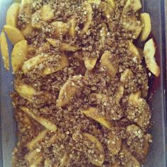 apple crisp recipe - princess among superheroes