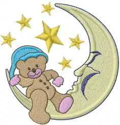 free angel teddy bear animation | design bear on moon from machine embroidery designs care bears ...
