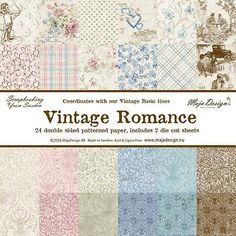 Maja Design 12 x 12 Vintage Romance Scrapbook Paper - Pick from Drop Down