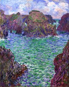 """Monet, Claude (French) """"Port-Goulphar, Belle-Île"""" - 1887 - Oil on canvas - Gallery of Art, New South Wales."""