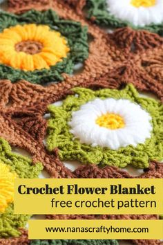 The Flower Medley Blanket is a free crochet pattern for a granny flower square made with different colors to create a medley of flower fun! Perfect stash buster - break out the leftovers to make a flower granny square blanket with a retro vintage vibe and patchwork feel. So pretty and fun to make! Crochet Throw Pattern, Easy Crochet Blanket, Crochet Patterns, Crochet Throws, Afghan Patterns, Unique Crochet, Free Crochet, Crochet Baby, Flower Granny Square