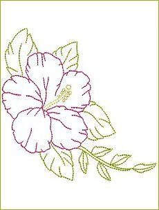 Stitched in the saskiko style would look great Brush Embroidery, Hand Embroidery Stitches, Silk Ribbon Embroidery, Crewel Embroidery, Hand Embroidery Designs, Vintage Embroidery, Cross Stitch Embroidery, Machine Embroidery, Embroidered Flowers