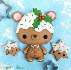 Terrific No Cost Polymer clay crafts bear Ideas Polymer Clay Ornaments, Cute Polymer Clay, Cute Clay, Polymer Clay Crafts, Diy Clay, Clay Christmas Decorations, Christmas Cake Topper, Polymer Clay Christmas, Christmas Cookies