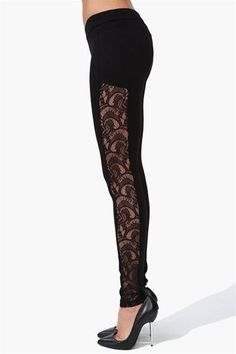Lace Up Back Lycra Leggings by Leg Avenue LA-13535 Gothic Clothing ...