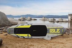 """ISLE Airtech Inflatable 11' Explorer Stand Up Paddle Board 6"""" Thick iSUP Package #ISLESurfandSUP"""