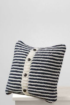 Cojín Calceta marinero - Knitted Pillow