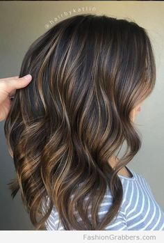 Trendy Hair Highlights Picture Description Perfectly soft blended brunette to dark blonde with balayage highlights eroticwadewisdom....