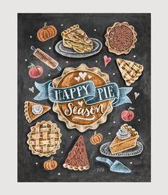 Happy Pie Season - Print