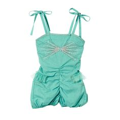 Tutu Du Monde Seachange Onesie in Teal at www.kokoblush.com - The teal tutu onesie features silk ribbon straps, tied in bows at the shoulders, and a silky edged neckline. The bodice is embellished with lines of silver and white sequins, exploding outwards from the centre in a bow shape. At the waist, ruched tulle forms a mini tutu and faux pockets are stitched on the puffball shorts.