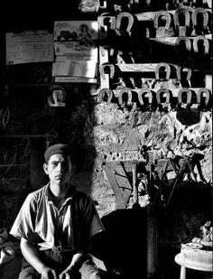 """Nino Migliori Il fabbro Foto tratta da """"Gente del Sud"""" 1956 Bologna, Archivio fotografico Nino Migliori http://youtu.be/zF7k9rszcRA"""