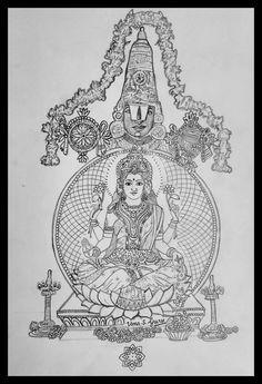 Drawings Pinterest, Tanjore Painting, Coloring Book Art, Indian Folk Art, Indian Art Paintings, Art Drawings Sketches Simple, Hindu Art, Pen Art, Sacred Art