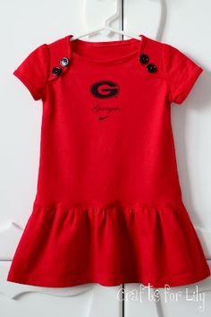 Adult T-shirt or fabric made into toddler dress.