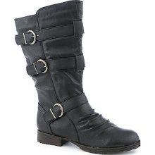 Breckelle's Womens Denver-16 Mid-Calf Boots Black