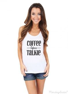 Coffee Before Talkie Graphic Tank Top | Monday Dress Boutique