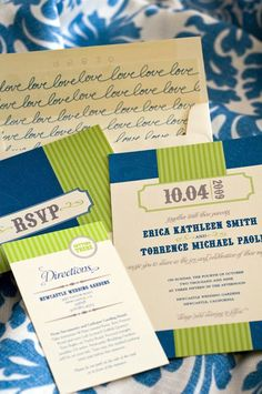 Erica + Torys Modern Country Wedding Invitations | Design: Erica Smith | Photo: Rochelle Mort