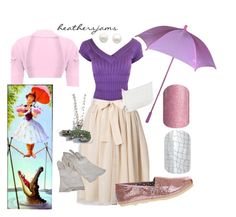 """Walt Disney World Stretching Portrait inspired"" by heathersjams ❤ liked on Polyvore featuring Reeds Jewelers and TOMS"