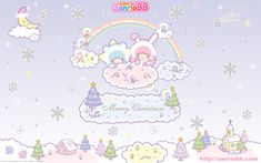 Sanrio little twins stars christmas wallpapers cute · kawaii . Sanrio Wallpaper, Star Wallpaper, Pochacco, Love Backgrounds, Disney Background, Star Images, Character Wallpaper, Sanrio Hello Kitty, Sanrio Characters