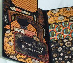 Premade Gatefold Scrapbook Album Halloween Steampunk Graphic 45 Iopg Susan   eBay