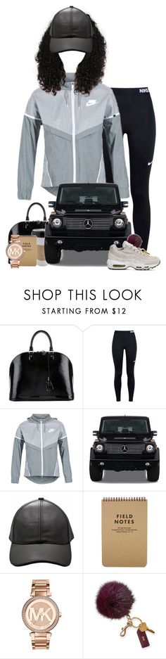 """""""Untitled #904"""" by shaniaa093 on Polyvore featuring Louis Vuitton, NIKE, OUTRAGE, Mercedes-Benz, Michael Kors and Mark & Graham"""