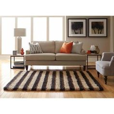 Spaces Home by Welspun Teddy Shag Area Rug, Multiple Colors, Brown