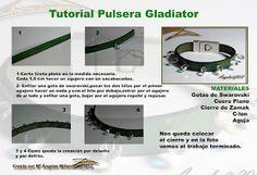 Quienlodira Creations: Gladiator Bracelet Tutorial Scheme