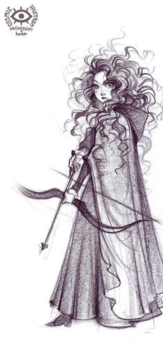 Merida. Art by cosmic spectrum, model was Adrianna Prosser