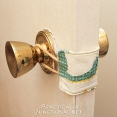 Make your own nursery door latch cover so you don't wake the baby when you shut the door! This Is genius