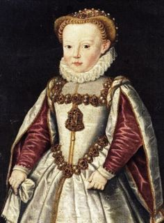 1581 Archduchess Catherine Renata of Austria (1576-1599) (or Catherine Renea) of Inner Austria at age five