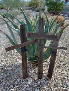 Old Wooden Crosses - 3 Crosses on Etsy, $36.00
