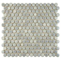 Merola Tile Hudson Penny Round Grey Eye 12 in. x 12-5/8 in. x 5 mm Porcelain Mosaic Tile-FKOMPR12 - The Home Depot