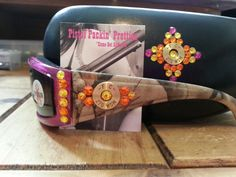 Dark Pink Fight Back Boneyard Camo With .270 with matching case in fuchsia, Sun and Citrine. Only one Available!