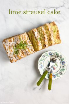 lime streusel cake | Sheri Silver - living a well-tended life... at any age Graham Cracker Crumbs, Graham Crackers, Streusel Cake, Soda Syrup, Sugar Glaze, Box Cake Mix, Loaf Cake, Key Lime, Cake Cookies
