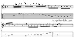 Geoges benson jazz guitar licks mixoblues scale